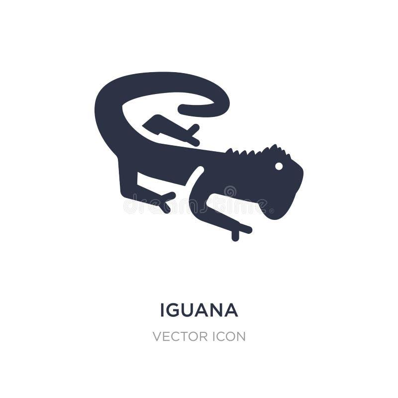 Leguanikone auf weißem Hintergrund Einfache Elementillustration vom Tierkonzept lizenzfreie abbildung