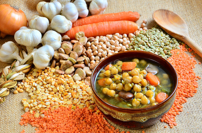 Download Legume soup stock image. Image of chickpeas, pulse, garlic - 17815369