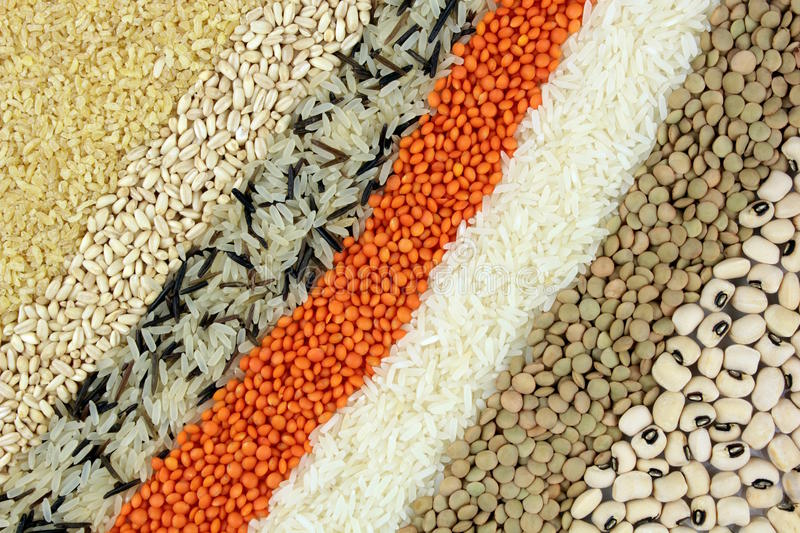 Legumes. Mixed legumes food use background stock images