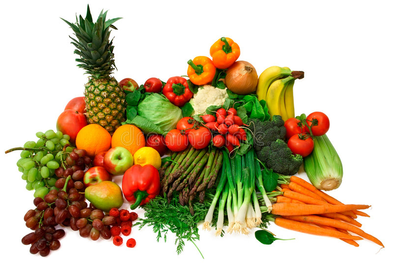 Legumes frescos e frutas imagens de stock royalty free