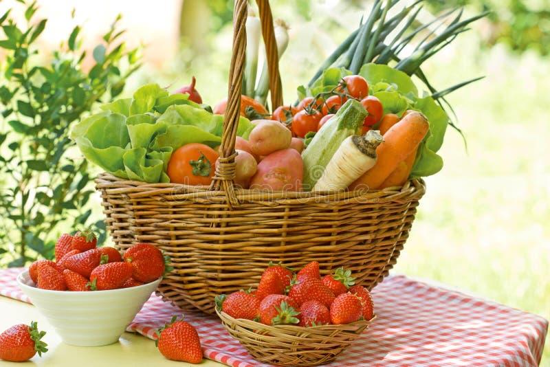 Legumes frescos e frutos imagens de stock royalty free