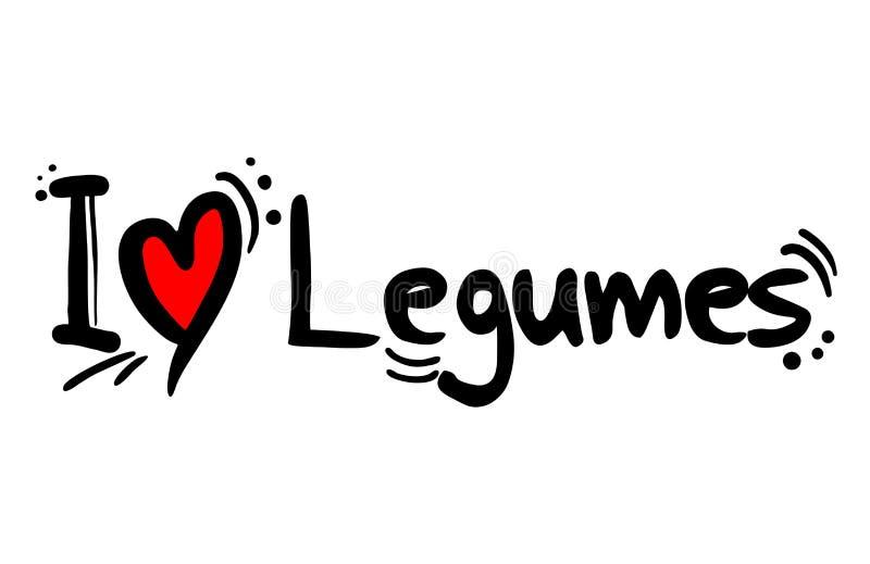 Legumes miłości karmowa wiadomość ilustracja wektor