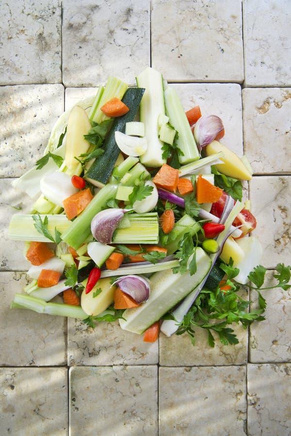Legumes misturados para a sopa imagem de stock