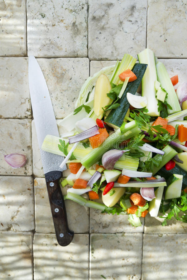 Legumes misturados para a sopa imagem de stock royalty free