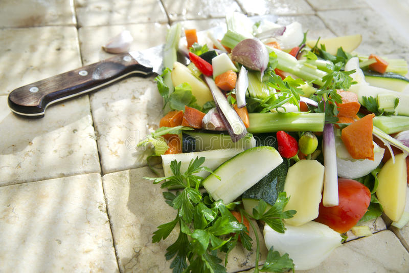 Legumes misturados para a sopa foto de stock