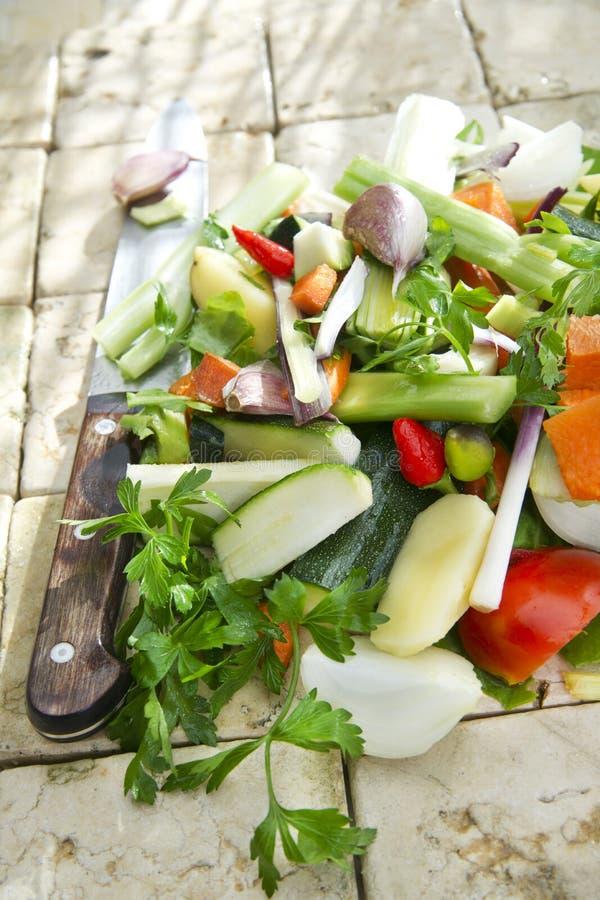 Legumes misturados para a sopa foto de stock royalty free