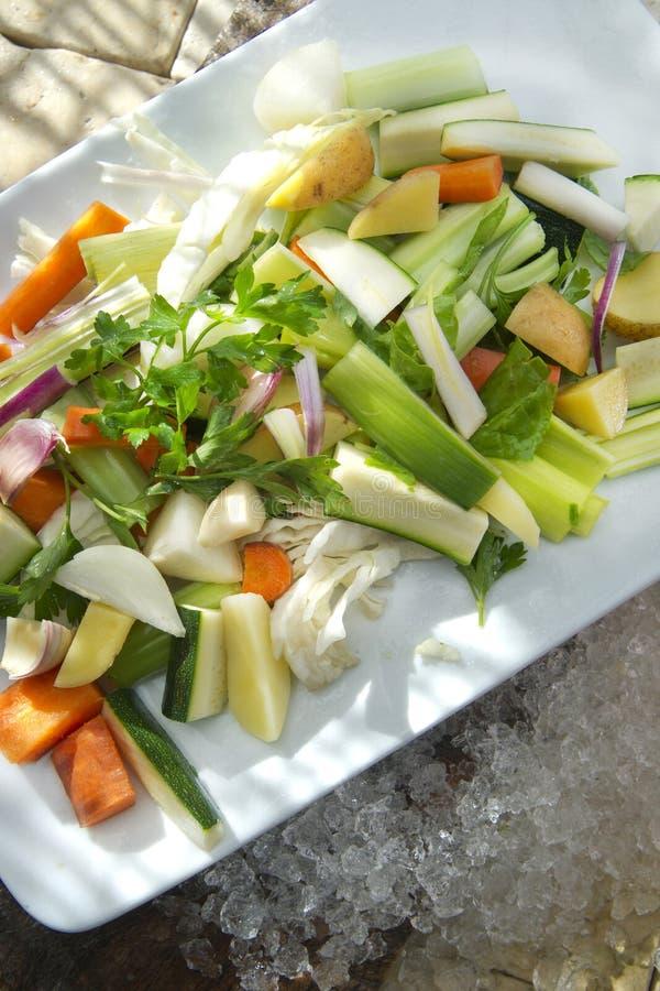Legumes misturados para a sopa fotografia de stock