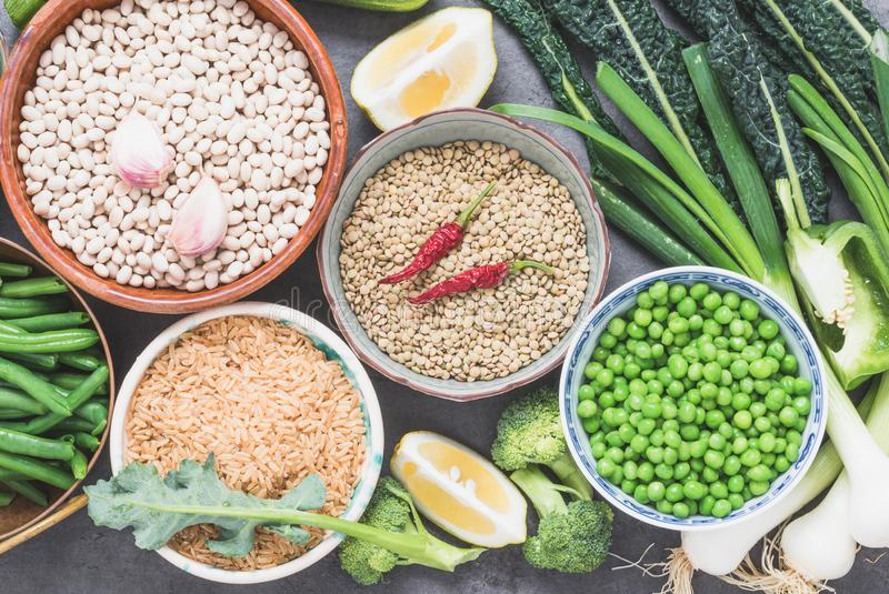 Legumes and vegetables background.Arabian and asian cuisine. royalty free stock images