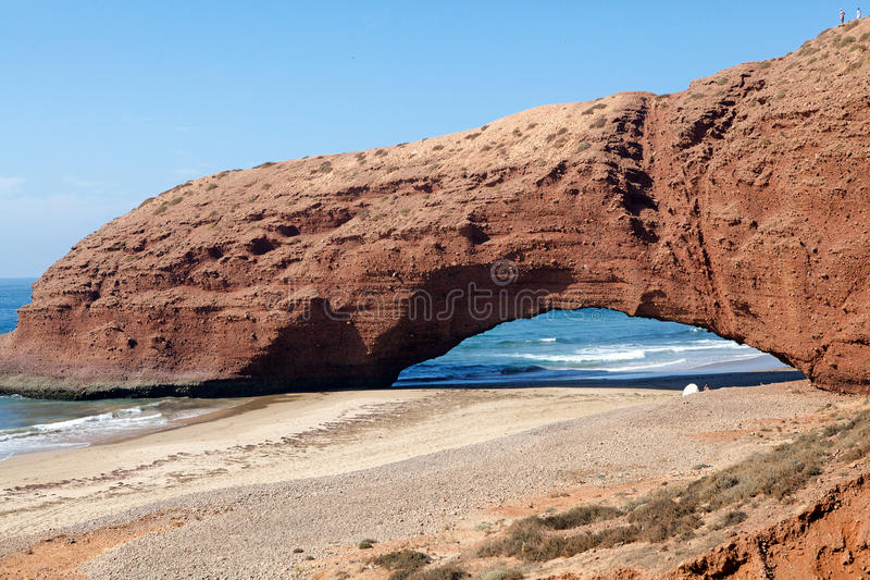 Legzira beach Morocco stock photo