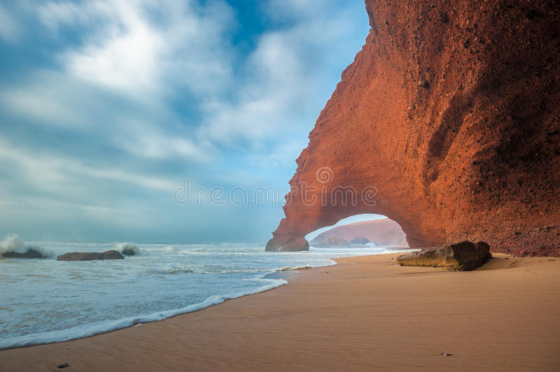 Legzira beach, Morocco stock photos