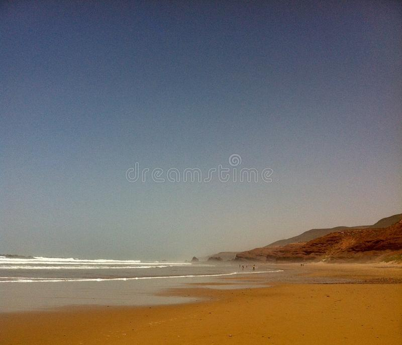 Legzira beach in Morocco stock photos