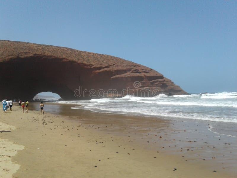 Legzira plaża Sidi Ifni lub Maroko obrazy royalty free