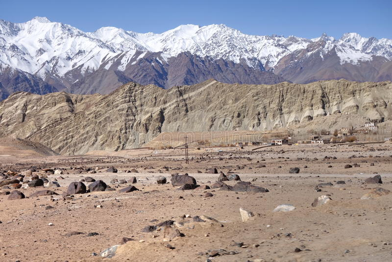 Leh, ландшафт Ladakh стоковое изображение rf