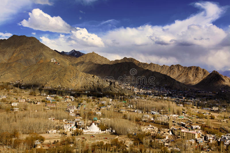 Download Leh city(city of gompas) stock photo. Image of beautiful - 26016802
