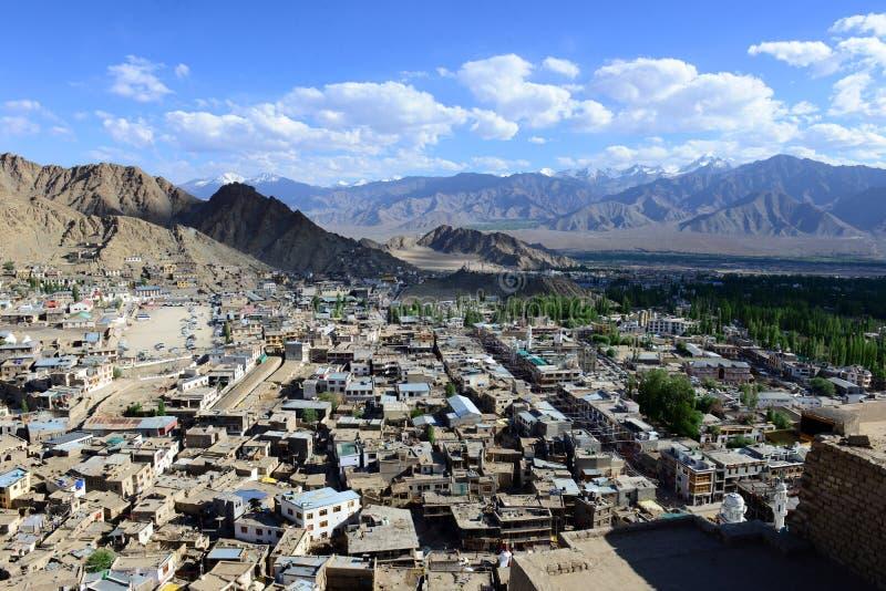 Leh em Ladakh, Índia do norte foto de stock