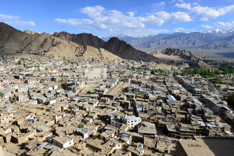 Leh en Ladakh, la India septentrional imagenes de archivo