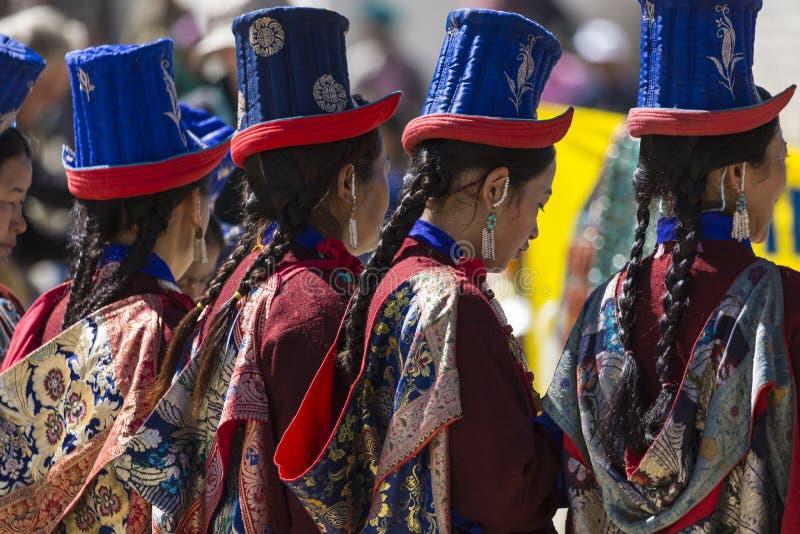 LEH INDIA, WRZESIEŃ, - 20, 2017: Niezidentyfikowani artyści w Ladakhi obrazy stock