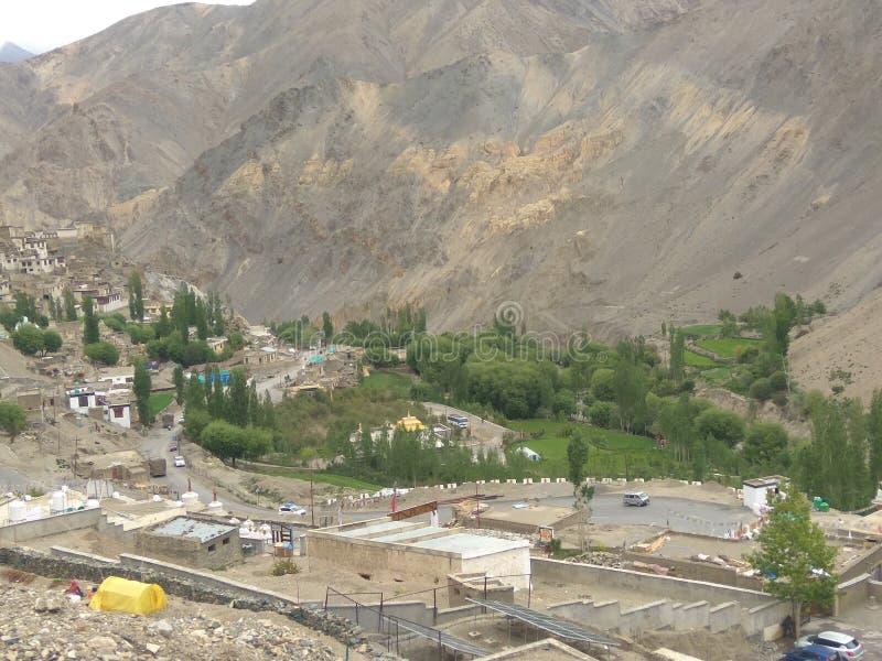 leh ladakh的一个美丽的修道院 免版税库存照片