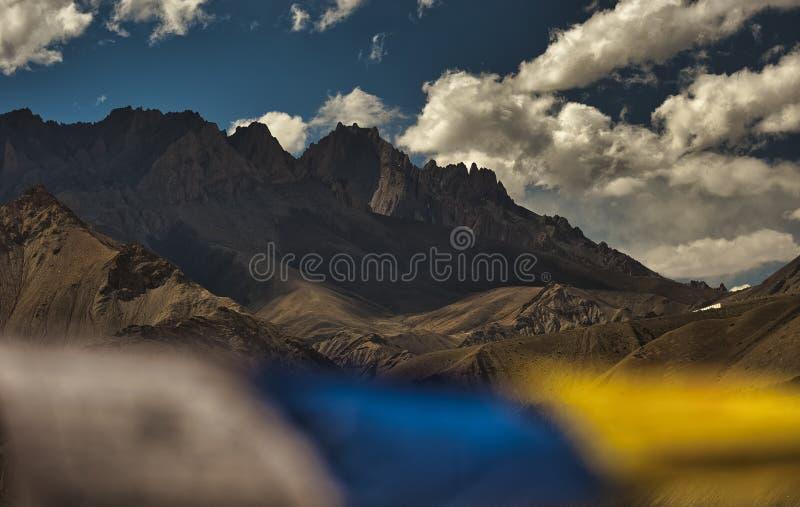 Leh ladakh, красивый пейзаж, сцена над горами Сток Кангри стоковое изображение rf