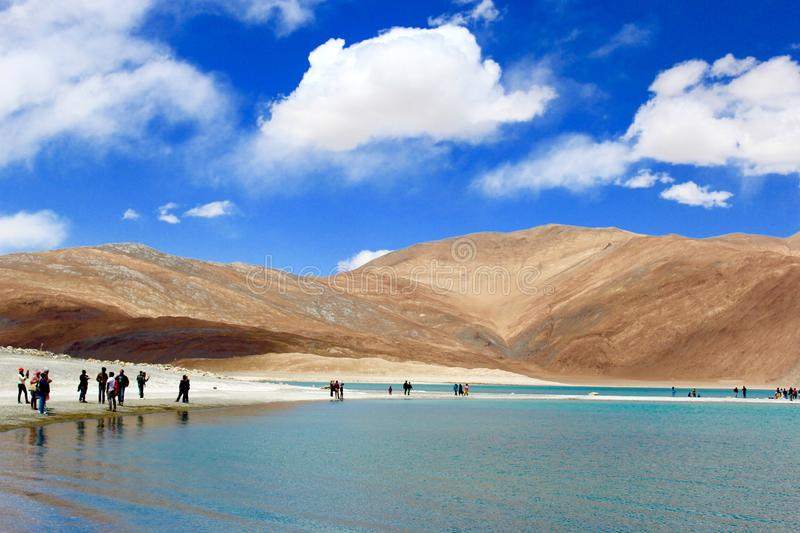 Leh Ladakh Landscape - Pangong Lake royalty free stock photos