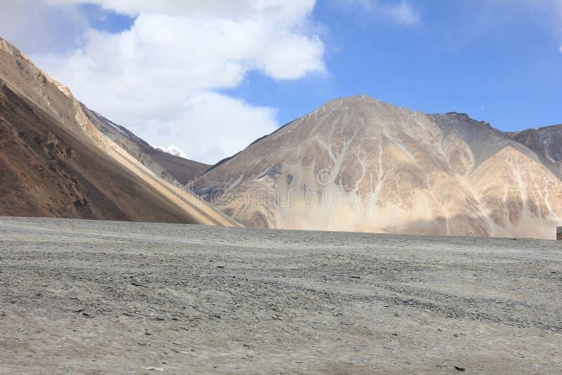 Leh ladhak  mountains, India. Leah ladhak Himalaya mountains, India, with beautiful cloudy sky royalty free stock photos