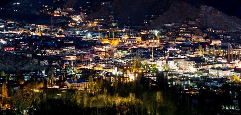 Leh miasto przy nocą obraz royalty free