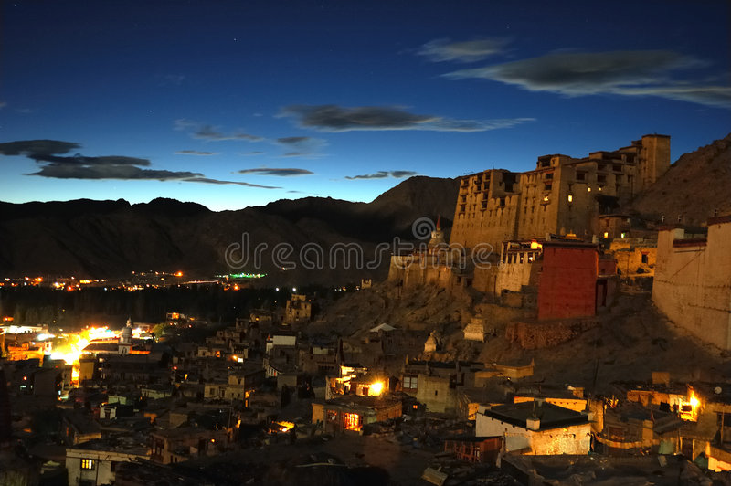 Leh by night royalty free stock photo