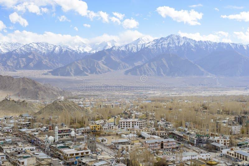 Leh-Stadtbild stockbilder