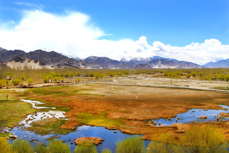 Download Leh valley stock photo. Image of valley, colored, snow - 24826368