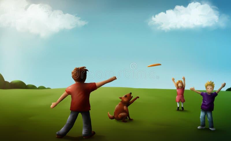 Lehm-Familien-Spaß lizenzfreies stockbild