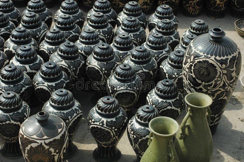 Lehm-Vasen stockfotos