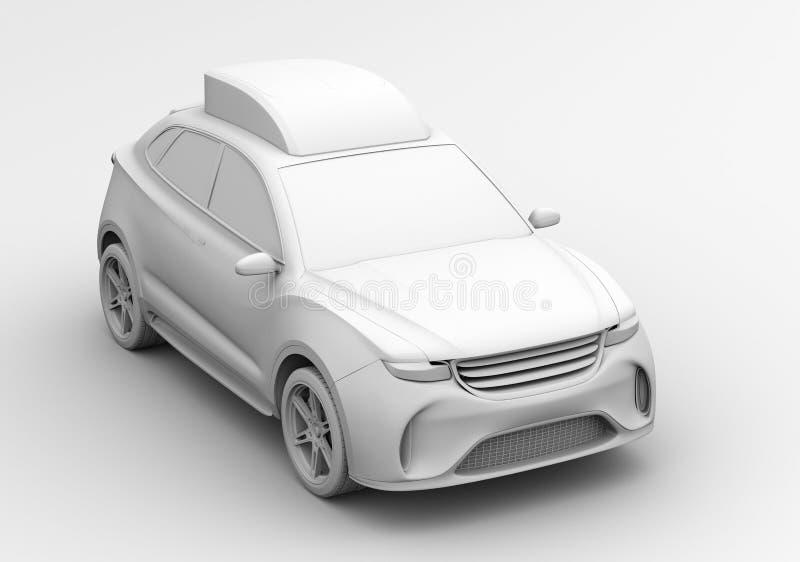 Lehm-Wiedergabe der elektrischen Rettung SUV vektor abbildung