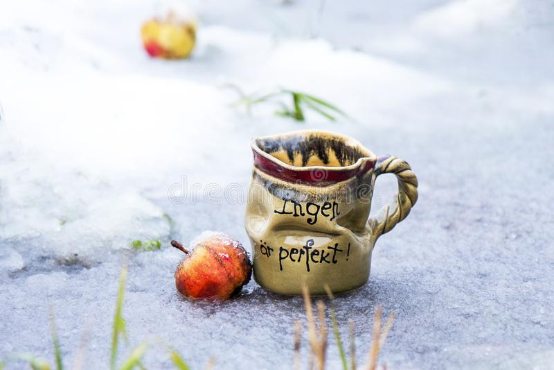 Lehmkaffee oder -tee Sup lizenzfreie stockfotos