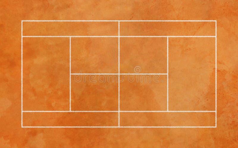 Lehmtennisplatz stockbild