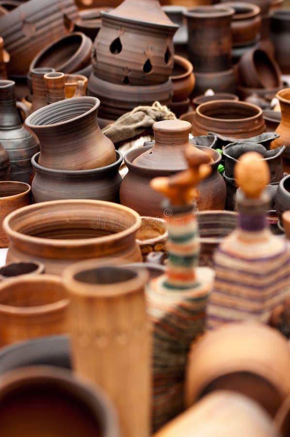 Lehmtonwarenkeramik stockbilder