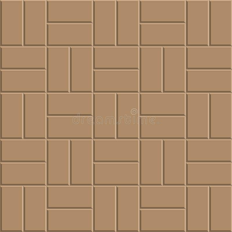 Lehmziegelstein-Bodenmuster vektor abbildung