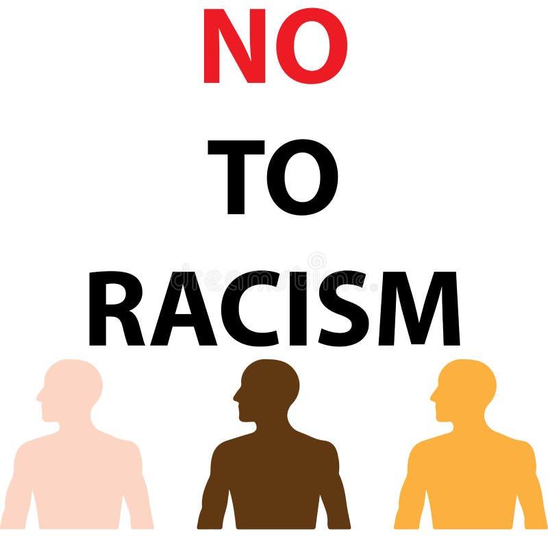 Lehnen Sie Rassismus ab lizenzfreie abbildung