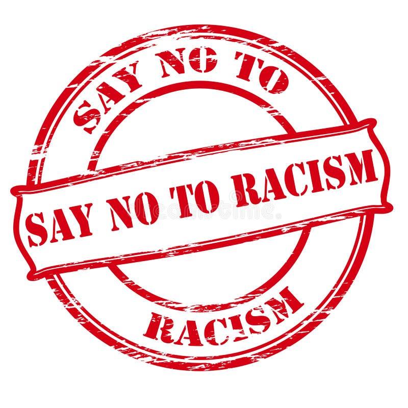 Lehnen Sie Rassismus ab vektor abbildung