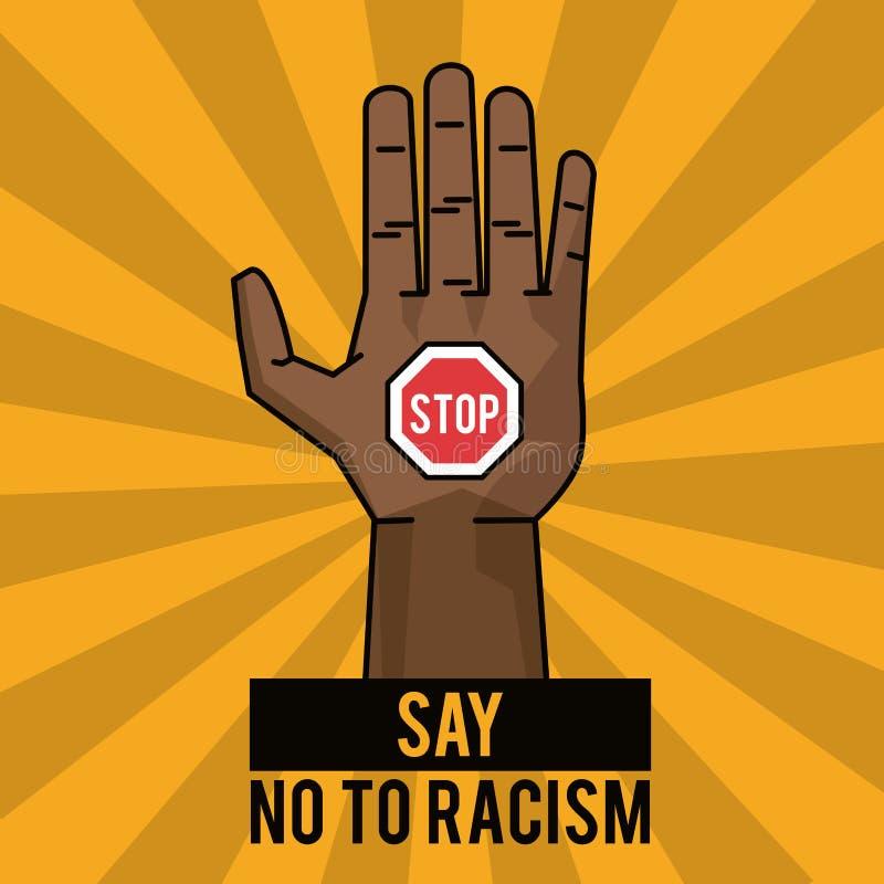 Lehnen Sie Rassismusendplakatkampagne ab stock abbildung