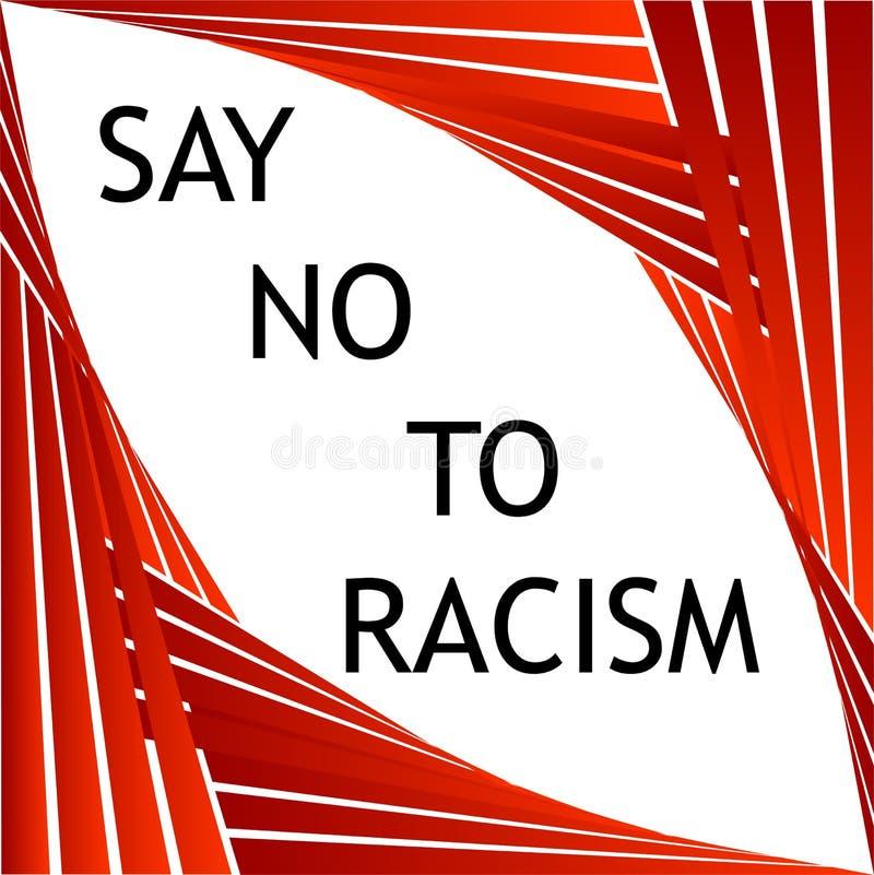 Lehnen Sie Rassismusgraphik ab stock abbildung