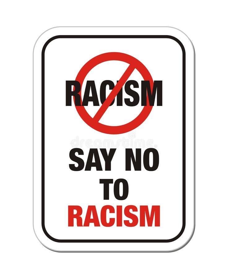 Lehnen Sie Rassismuszeichen ab lizenzfreie abbildung