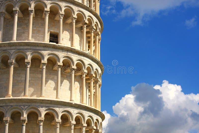 Lehnender Kontrollturm in Pisa, Toskana, Italien lizenzfreies stockfoto