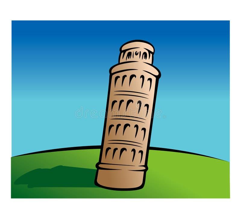 Lehnender Kontrollturm von Pisa vektor abbildung