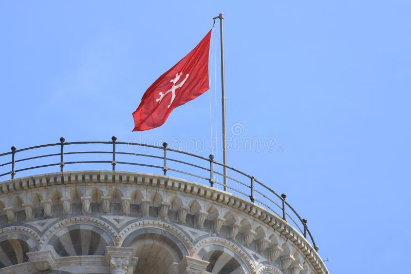 Lehnender Kontrollturm von Pisa Zelle mit Glocken Der Turm ist errichtetes entir lizenzfreies stockbild