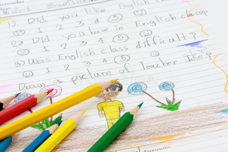 Lehnendes Englisch in Thailand lizenzfreie stockbilder