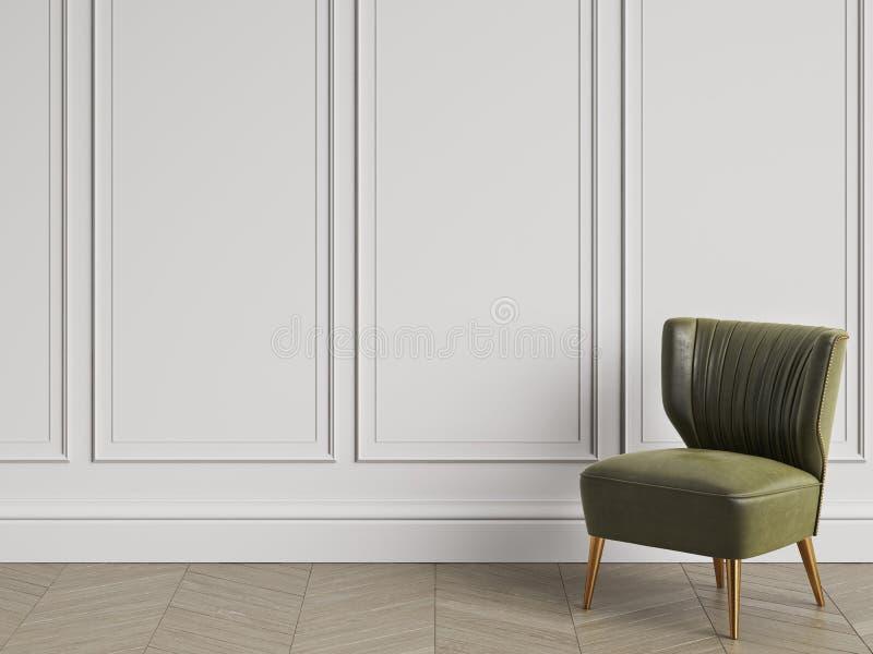 Lehnsessel in der Art- DecoArt im klassischen Innenraum mit Kopienraum vektor abbildung