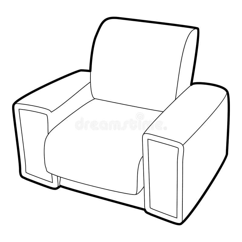 Lehnsesselikone, isometrische Art 3d lizenzfreie abbildung