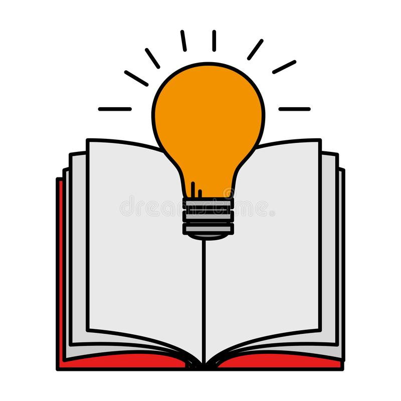 Lehrbuch mit Birne vektor abbildung