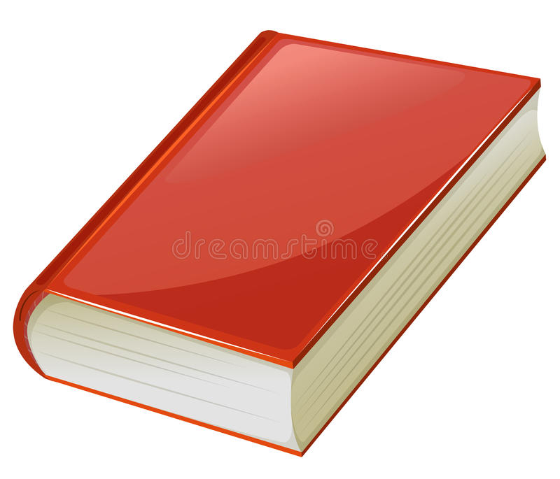 Lehrbuch mit roten Abdeckungen lizenzfreie abbildung