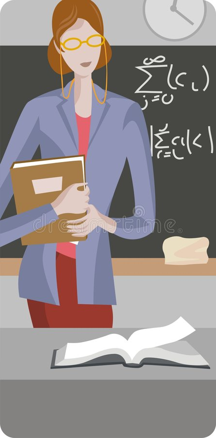 Lehrer-Abbildung-Serie lizenzfreie abbildung